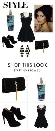 """Dark night..."" by ac319509 on Polyvore featuring Yves Saint Laurent, Victoria's Secret, Giuseppe Zanotti and Amrita Singh"