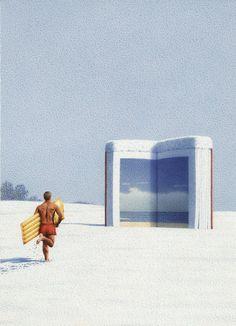 Lob der Buecher - Thank God For Books by Quint Buchholz. 1999