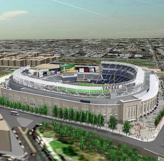 NY Yankees: New Yankee Stadium.  2009-Present.  The playing field is essentially the same, with little foul territory and difficult visibility in the corners.  The remainder of the place is a very costly museum. Softball Pitching Machine, Baseball Pitching, Baseball Games, Baseball Jerseys, Basketball, Yankees News, Mlb Yankees, New York Yankees, Baseball Park