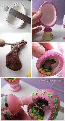 Easter egg Diorama how to:   http://swirlydesignsblog.blogspot.com/2012/03/seasonal-how-to-easter-egg-dioramas.html