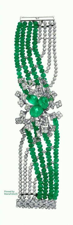 Cartier Diamond n Emerald Bracelet
