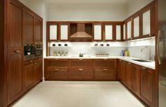 Simple Modern Walnut Kitchen Cabinets Ideas Nice Corner And Walnut Kitchen Cabinet Walnut Kitchen Cabinets, Contemporary Kitchen Cabinets, Kitchen Cabinet Colors, Shaker Cabinets, Kitchen Wood, Upper Cabinets, Kitchen Modern, Alcove Cabinets, Floating Cabinets