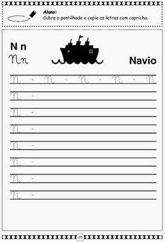 Atividades Infantis: Alfabeto pontilhado em letra cursiva