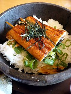 Japanese Unagi Rice Bowl - one of my favorite foods. Love #unagi!