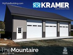 The Mountaire - 30 x 50 x 14 View, configure and price this building at http://www.MyPoleBuilding.com/