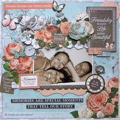 Kaisercraft's Ooh La La collection -Friends-are-family Scrapbooking Layouts, Scrapbook Cards, Emilia, Love Frames, Arts And Crafts, Paper Crafts, Mini Albums Scrap, All Friends, Vintage World Maps