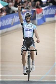 Tom Boonen wins Paris-Roubaix for the fourth time