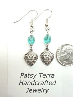975 Patsy Terra Handcrafted Earrings Made in USA Jewelry Hearts Valentine's Day | eBay