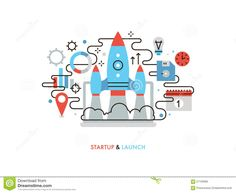 business-startup-flat-line-illustration-thin-design-launching-new-idea-rocket-start-market-innovation-project-shuttle-57103995.jpg (1300×1065)