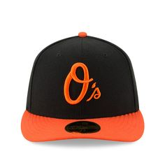 Men's Baltimore Orioles New Era Black/Orange Alternate 2 Authentic Collection On-Field Low Profile 59FIFTY Fitted Hat