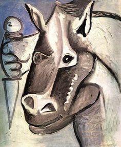 """Pablo Picasso - """"Horse head"""", 1962"""