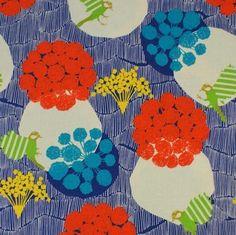 Echino Joy en rouge et bleu - Grande largeur