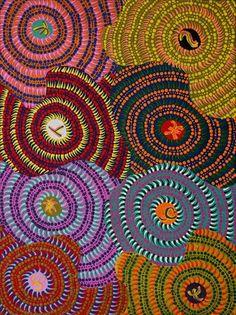Watiya-warnu Jukurrpa (Seed Dreaming) by Tanya Nungarrayi Collins