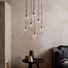 Northern Lighting Pendelleuchte Unika Transparent | Groß   Ø 14cm  Beleuchtung, Lichter, Skandinavische Möbel