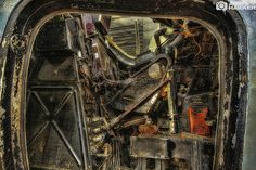 pilots seat. my own work. #arthakker #hdr #photography #urbex #derelict