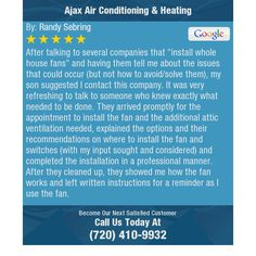"""After talking to several companies that """"install whole house fans"""" and having them tell me..."""