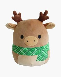 Ruby the Moose Super Soft Plush Toy in) Squishmallows Ruby the Moose Super weiches Plüschtier Zoll) Cute Stuffed Animals, Cute Animals, Animal Bag, Cute Pillows, Cute Plush, Dog Costumes, Stuffed Animal Patterns, Plush Animals, Toddler Toys