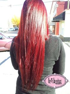 Gorgeous Red! Stylist- Cheyenne at Hair Benders Salon!