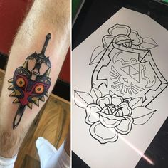 Would love to do more Zelda pieces, spaces next week! Message or email me to get booked in #tattoo #tattoodesign #art #artwork #traditional #drawing #painting #pen #sketch #traditionaltattoo #zelda #legendofzelda #zeldatattoo #videogametattoo