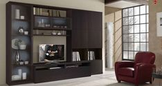 Home Built In Bar and wall unit ideas | Magnificent Living Room Contemporary Stylish Modern Design With Dark ...
