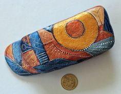 hand painted river stone by KarinGetazArt on Etsy
