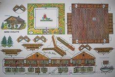 lote de 4 recortables serie chalets. conbel. 19 - Comprar Construcciones en todocoleccion - 26942259