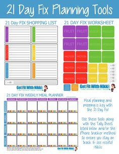 Printable 21 Day Fix  Printable Meal Planning Tools & Tracking Sheets #21dayfix #mealplanning #printable