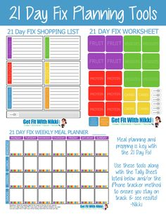 Printable 21 Day Fix Printable Meal Planning Tools & Tracking Sheets #21dayfix #mealplanning #printable