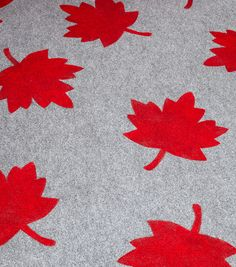 Maple Leaf Rug..Quick-and-easy stenciling turns an outdoor rug into a personalized welcome mat.