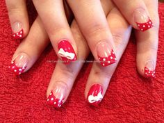 eye candy Nails & Training - Nails Gallery: Green and glitter tips with one stroke nail art and Swarovski crystals over acrylic nails by Elaine Moore on 30 March 2013 at 13:5