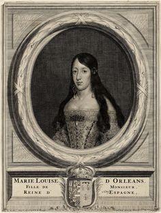Marie Louise D'Orléans. Fille de Monsieur. Reine D'Espagne.