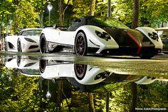 Koenigsegg Agera R & Pagani Zonda Cinque Roadster