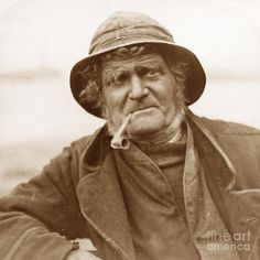 Victorian Fisherman England Photograph