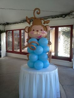 Baby showers vase and facebook on pinterest - Monkey balloons for baby shower ...