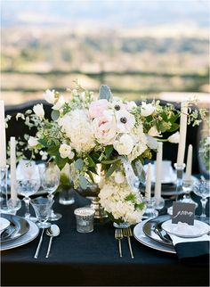 Black & White Elegant Wedding Inspiration from Diana Marie Photography | Southern California Bride