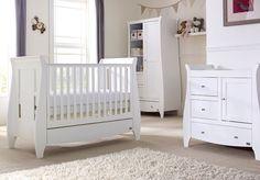 Kinderzimmermöbel set weiß  Rimini 3 Piece Room Set - High Gloss White - Nurture Organics - 1 ...