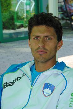 Tomislav Ternar v teniški reprezentanci proti Romunom.