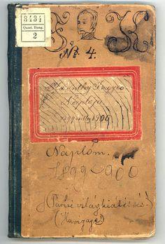 nyugatfolyoirat:  KARINTHY FRIGYES DIÁKKORI NAPLÓJÁNAK EGYIK KÖTETE Országos Széchényi Könyvtár/ Kézirattár: Quart. Hung. 3434