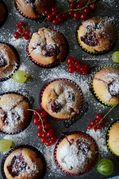 Cupcakes with fruits of summer