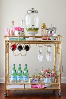 Best Dressed Bar Carts: Pretty In Pink