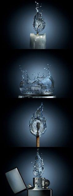 If fire were water.