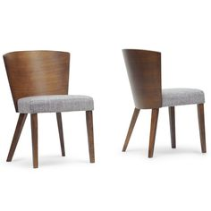 Baxton Studio Sparrow Brown Wood Modern Dining Chairs (Set of 2) - Overstock™ Shopping - Great Deals on Baxton Studio Dining Chairs