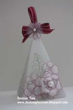 Floral Petal Cone Box by mrstam - Cards and Paper Crafts at Splitcoaststampers