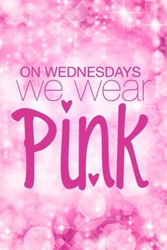 Forgot to wear pink this Wednesday...