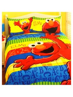 Wonderful Image Detail For  Elmo Bedding Quilt Cover Set Rainbow Double   Kids Bedding  Dreams
