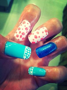 Beach themed nails...