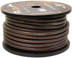 Cadence 4G150-BLACK 4 Gauge 12 Foot Black Amp Power Wire Spool w/ Cool Cable Technology (Cut from a 150 Foot Spool) by Cadence. $12.95. Cadence 4G150-BLACK 4 Gauge 12 Foot Black Amp Power Wire Spool w/ Cool Cable Technology (Cut from a 150 Foot Spool) Features:  Model: 4G150-BLACK Gauge: 4 Gauge Wire Length: 12 feet Cadence Cool Cable Technology Special Winding Configuration Reduces Unwanted Noises and Maximizes Current Transfer High Purity Oxygen Free Copper St...