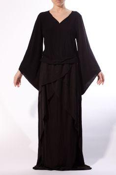 'Dark Countess' Black Dress  - Katttja