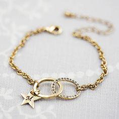 personalised infinity charm bracelet by j & s jewellery | notonthehighstreet.com