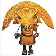 Статуэтка бога Солнца. Золото. 13–15 вв. Инки